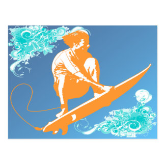 Surfing Postcard