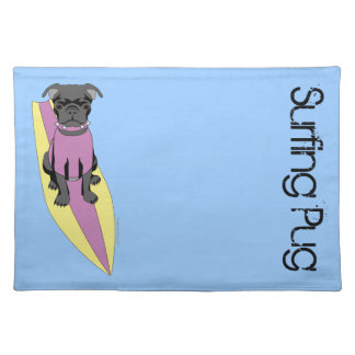 Surfing Pug (Pastel) Placemat