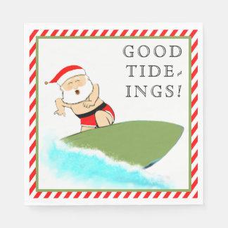 Surfing Santa Disposable Napkins
