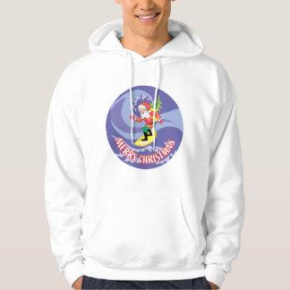 Surfing Santa Dude Hoodie
