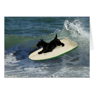 Surfing Scottish Terrier Card