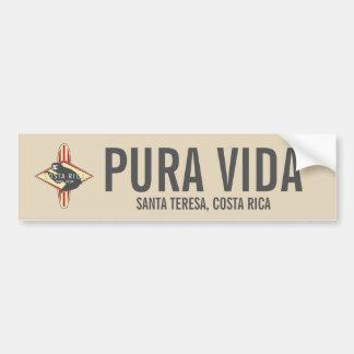Surfing Sloth Red Pura Vida Costa Rica Bumper Bumper Sticker