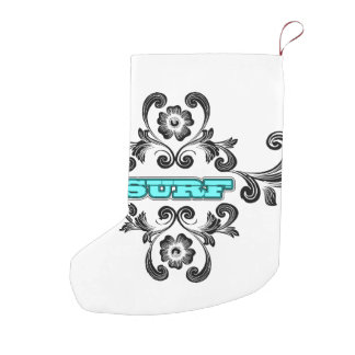 Surfing Small Christmas Stocking