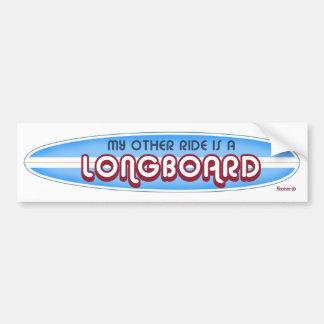 Surfing sticker bumper sticker