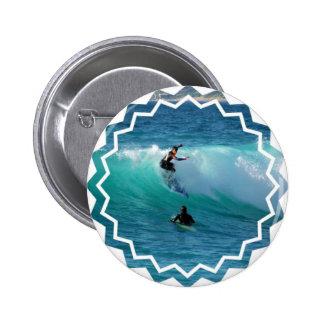 Surfing Style Round Button