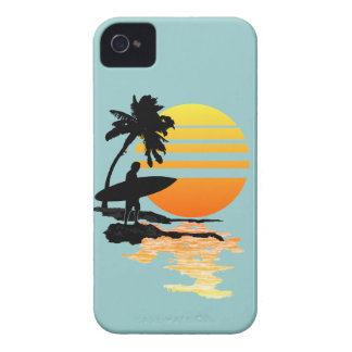 Surfing Sunrise iPhone 4 Covers
