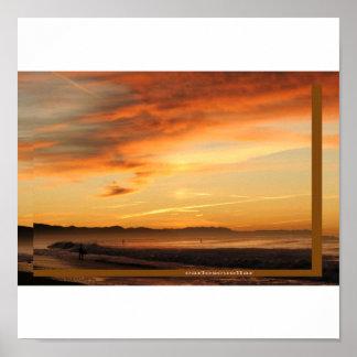 surfing sunrise print