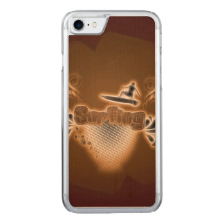 Surfing, surfboarder carved iPhone 7 case