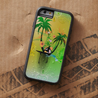 Surfing, surfboarder with plam tough xtreme iPhone 6 case