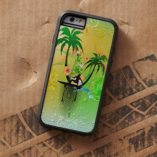 Surfing, surfboarder with plam tough xtreme iPhone 6