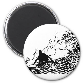 Surfing Surfer Design Retro Style Fridge Magnets