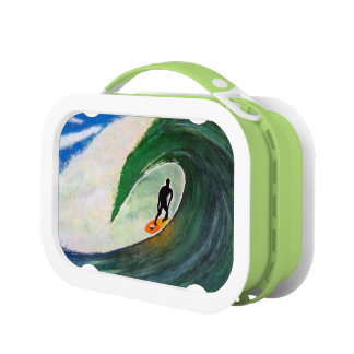 Surfing Surfer in Hawaii School Lunch box plastic