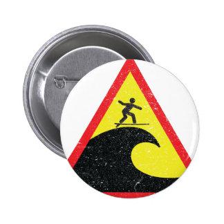 Surfing Surfer Surfs 6 Cm Round Badge