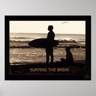 Surfing the break poster
