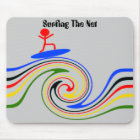 Surfing the internet mouse mat