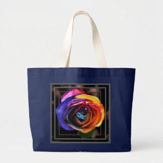 Surfing the Rainbow Rose Tote