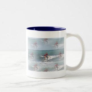 Surfing USA Ceramic Coffee Mug