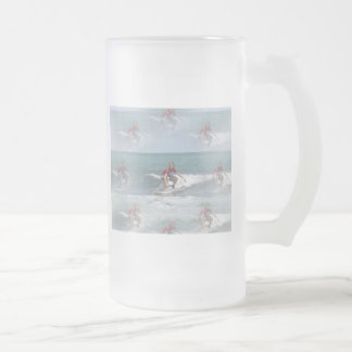 Surfing USA Frosted Beer Mug
