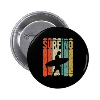 Surfing Vintage 6 Cm Round Badge
