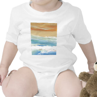 Surfing Waves in Motion Ocean Waves Beach Decor Baby Bodysuits