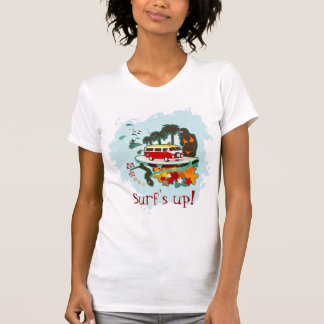 Surf's Up! Beach Scene T Shirt