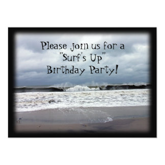 """Surf's Up"" Birthday Party Card"