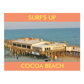 SURF'S UP COCOA BEACH POSTCARD