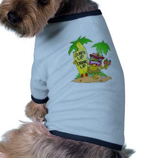 Surfs Up Drink Up Ringer Dog Shirt