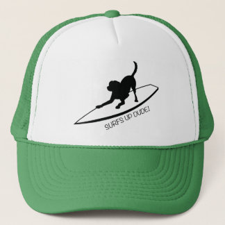 SURFS UP DUDE TRUCKER HAT