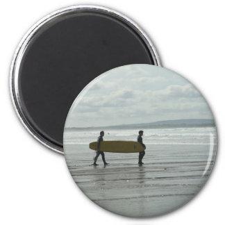 Surf's Up, Enniscrone, Co. Sligo 6 Cm Round Magnet