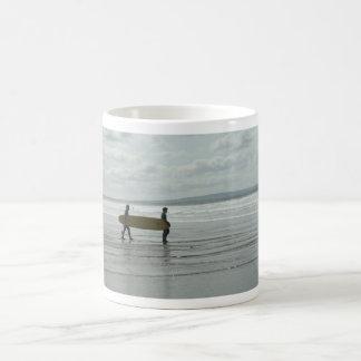 Surf's Up, Enniscrone, Co. Sligo Basic White Mug