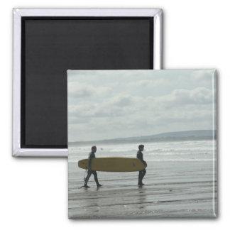 Surf's Up, Enniscrone, Co. Sligo Square Magnet