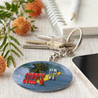 Surf's up key ring