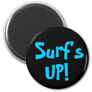 SURF'S UP! magnet (round) 2 Inch Round Magnet