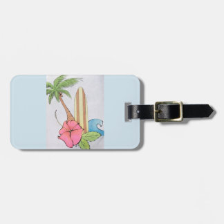 Surfs Up Peaceful Blue Luggage Tag