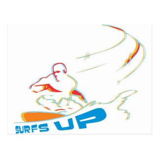 surfs up post card