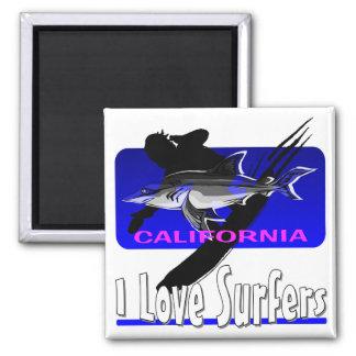 Surf's Up Square Magnet