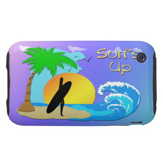 Surfs Up - Surfer Girl iPhone 3g Case-Mate Case iPhone 3 Tough Covers
