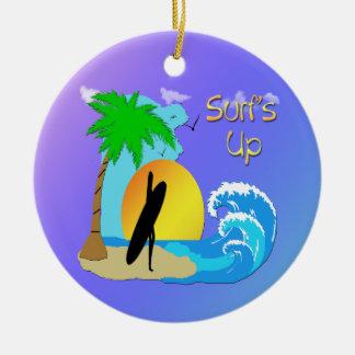 Surfs Up - Surfer Girl Ornament