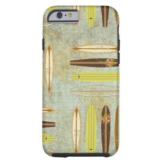 Surf's up! Vintage, distressed surfboard design Tough iPhone