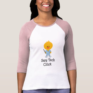 Surg Tech Chick Raglan T shirt  T-Shirt