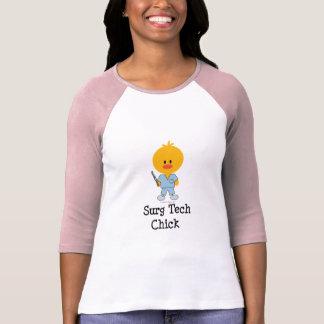Surg Tech Chick Raglan T shirt  Tees