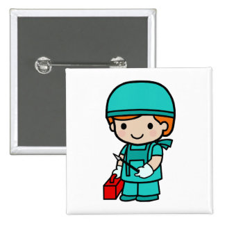 Surgeon Boy 15 Cm Square Badge