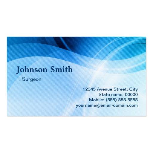 Surgeon - Modern Blue Creative Business Card