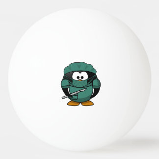 Surgeon Penguin Cartoon Ping-Pong Ball