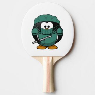 Surgeon Penguin Cartoon Ping-Pong Paddle