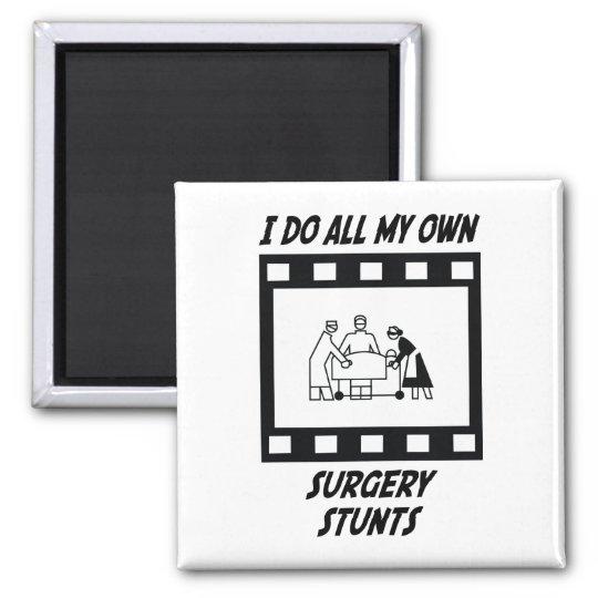 Surgery Stunts Square Magnet
