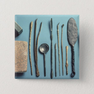 Surgical instruments 15 cm square badge