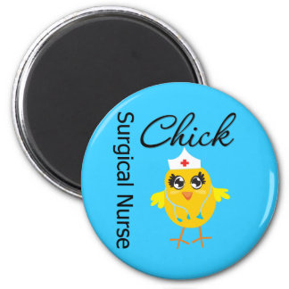 Surgical Nurse Chick v1 6 Cm Round Magnet