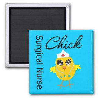 Surgical Nurse Chick v1 Square Magnet